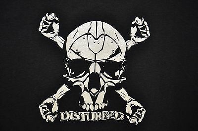 Nwt Disturbed Band Black Ladies  Graphic Baby Doll T Shirt  Large