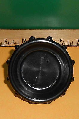 "6509044 Large 3"" Black Knob 7/16""-20 Metal Insert    New Old Stock"