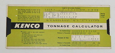 Kenco Tonnage Calculator Peck-Lewis