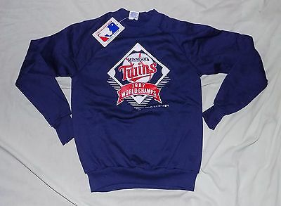 1987 NWT New Minnesota Twins World Champs Blue Boy's Sweatshirt Youth M 10/12