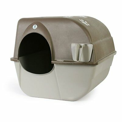 TOP Roll N Clean Self Cleaning Cat Kitty Toilet Litter Box Pewter Patented #3987