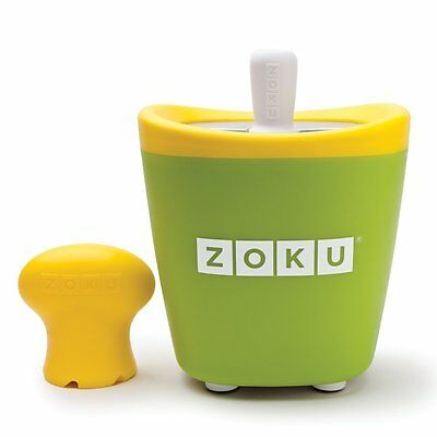 Zoku Single Quick Pop Ice Lolly Maker Green Easy Fun Summer Frozen Ice Lollies