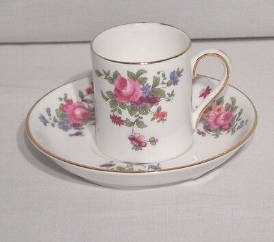 Crown Staffordshire Bone China Cup Saucer Floral Pattern A809 White
