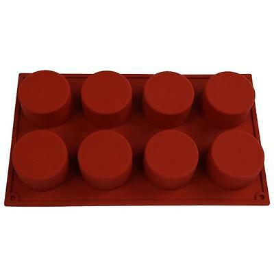8 Round Silicone Mold Candy Chocolate Cake Cookie Cupcake Soap Mould Tools LJ