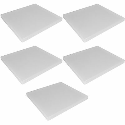 5 X New 12 X 12 Clear Polymer Plastic Storage Box Hold 12X12 Scrapbook Office