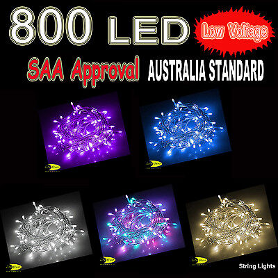 800 LED Fairy String Lights Lighting Christmas Xmas Party Wedding Low Voltage