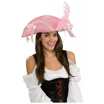 Pink Pirate Hat with Bows Costume Accessory Adult Halloween