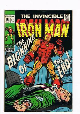 Iron Man # 17  The Beginning of the End !  grade 8.0 movie scarce hot book !!
