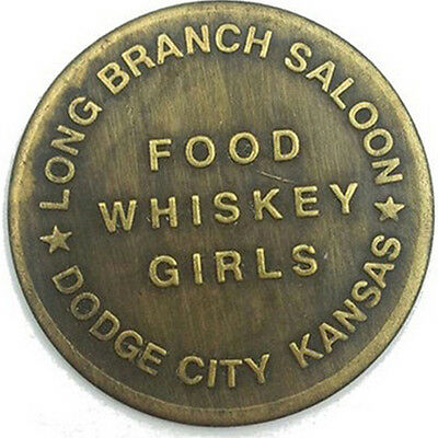 Long Branch Saloon Solid Brass Brothel Tokens