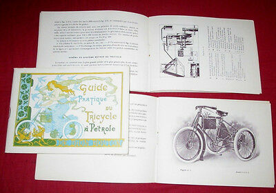 DE DION BOUTON : guide pratique du tricycle à pétrole modéle 1899-1900   reprint