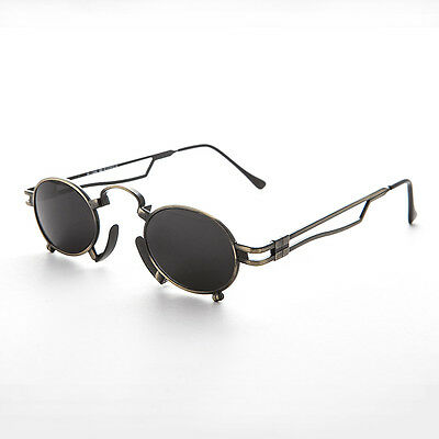 Vintage Steampunk Sunglasses with Metal Nose Piece Bronze -Jules