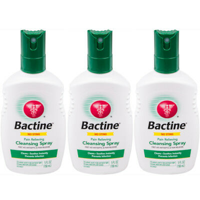 3 Pack Bactine Pain Relieving Cleansing Spray Infection Protection 5 oz
