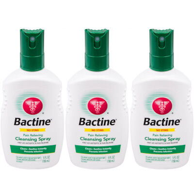 3 Pack Bayer Bactine Pain Relieving Cleansing Spray Infection Protection 5 oz