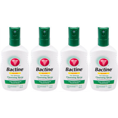 4 Pack Bayer Bactine Pain Relieving Cleansing Spray Infection Protection 5 oz