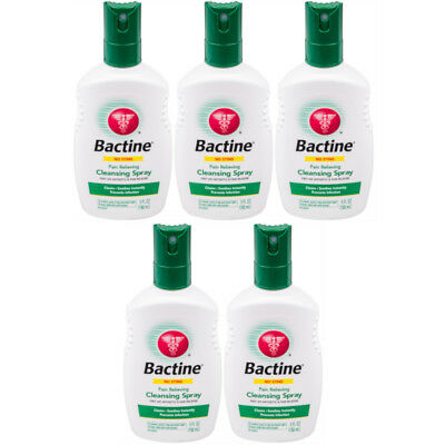 5 Pack Bayer Bactine Pain Relieving Cleansing Spray Infection Protection 5 oz