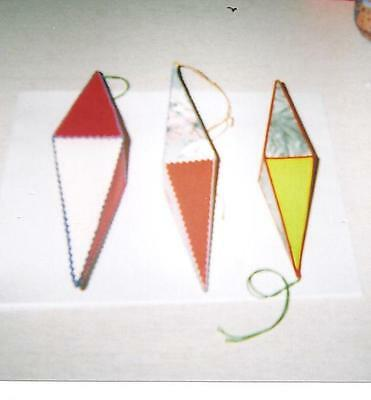 "Vintage Handmade Ornaments - 3  in the set - 7,8,9"" long - Colorful"