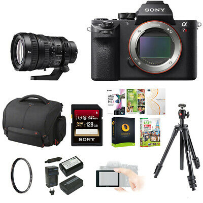 Sony Alpha a7RII Camera Body Only + Sony FE PZ 28-135mm f/4 Lens + 128GB Bundle