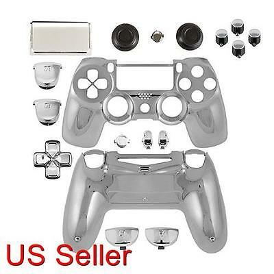 PS4 Repair Part Full Housing Shell Case Chrome Silver PlayStation 4 Game Bully