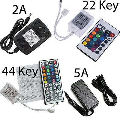 DC12V 2A / 5A Power Supply Transformer LED 24/44 keys IR Remote Controller RGB