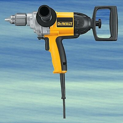 TOP DEWALT 9 Amp 1/2-Inch Corded Drill Driver Spade Handle Drilling Mixing #4051