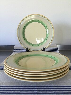 """Clarice Cliff Bizarre Liberty? 9"""" Salad Lunch Dinner Plate X 6"""