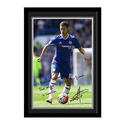 Personalised Eden Hazard Signed Photo – Chelsea FC