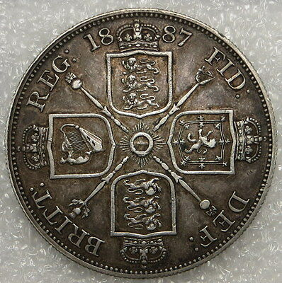 1887 Great Britain Double Florin Coin ungraded