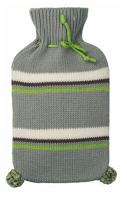 Taupe Knitted Fashy Hot Water Bottle