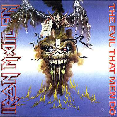 "IRON MAIDEN - The Evil That Men Do -2014 UK limited edition of the 1988 7"" vinyl"