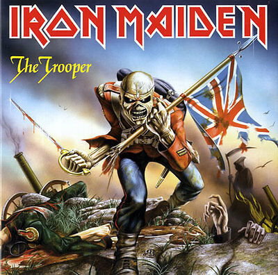 "IRON MAIDEN - The Trooper - 2014 UK limited edition of the 1983 7"" vinyl single"