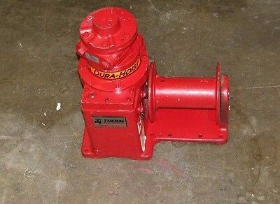 Thern 4771Pn 2000 Lb Cap 22 Fpm Max Helical Worm Gear Power Pneumatic Winch New