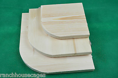 Solid Pine Corner shelf - Small Medium Large from mouse to guinea pig size