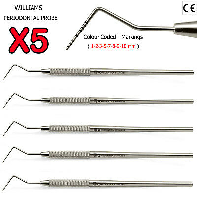Medentra Diagnostic Periodontal Probes for Pockets Measurement 1-2-3-5-7-8-9-10