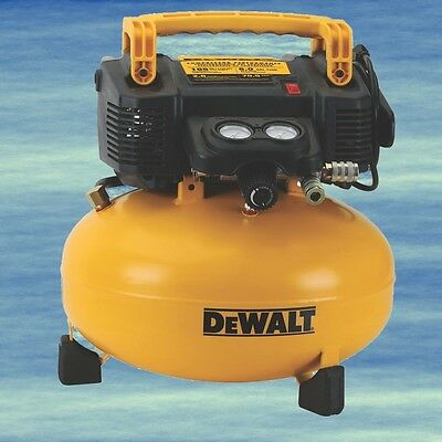 DEWALT Pancake Compressor 6 Gal 165 PSI Easy Start Maintenance Free Quiet #4057