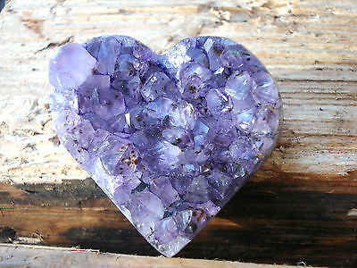 High Quality Amethyst Cluster Heart from Brazil - Gem of Peace & Harmony