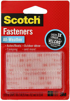 Scotch Fasteners All-Weather Hook & Loop Recloseable Strips 3M Perm Adhesive