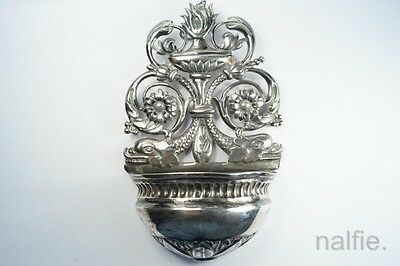 ANTIQUE 19th CENTURY CONTINENTAL SILVER HOLY WATER STOUP