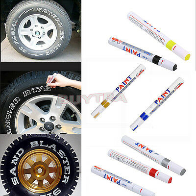 Permanent Waterproof Car Tyre Tire Metal Marker Paint Pen Quick-drying Useful