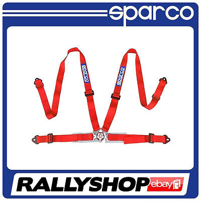 """Sparco Harness RED 4 Point 2"""" CHEAP DELIVERY SALE SPORT BELTS"""