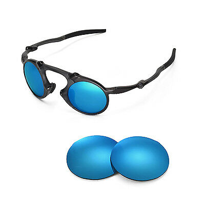 0d568e4f4a New Walleva Polarized Ice Blue Replacement Lenses For Oakley Madman  Sunglasses