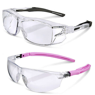 Clear Lens Comfort Fit Safety Cycling Glasses Goggles Mens & Womens Overglasses