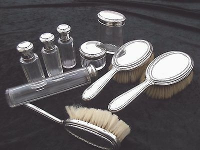 Antique  Dresser Vanity Set Victorian  1890/1900 French silver and Gallia