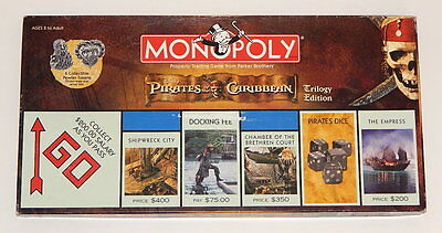 Disney Pirates of the Caribbean Trilogy Edition Monopoly Game Complete 2007