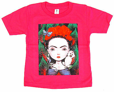 FRIDA KAHLO Baby Infant T-shirt Animated Cartoon Art Tee 6M,12M,18M,24M Pink New