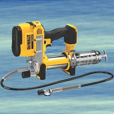 Top DEWALT Grease Gun Cordless 20V Lithium Ion Long Flexible Hose LED #3993