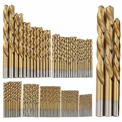 99pcs HSS Titanium Coated Metal High Speed Steel Drill Bit Set Tool 1.5-10mm UK