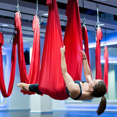 5*2.8m Decompression Inversion Therapy Anti-Gravity Yoga Aerial Swing Hammock N