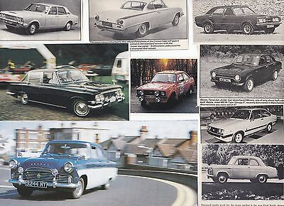 120 LOT Ford of England/UK Cars Magazine Clips & Articles! Cortina, 100e, Anglia