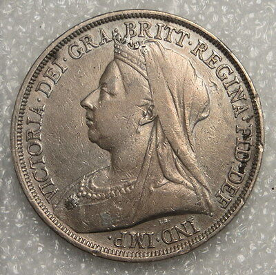 1893 Great Britain Crown Coin, ungraded