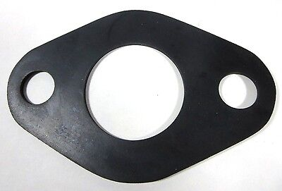 """One Pair (2), 2"""" FULL FACE Oval Flange Water Meter Gasket, EPDM Rubber"""